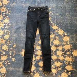 BLK DNM Ankle Zip Skinny Jean 26